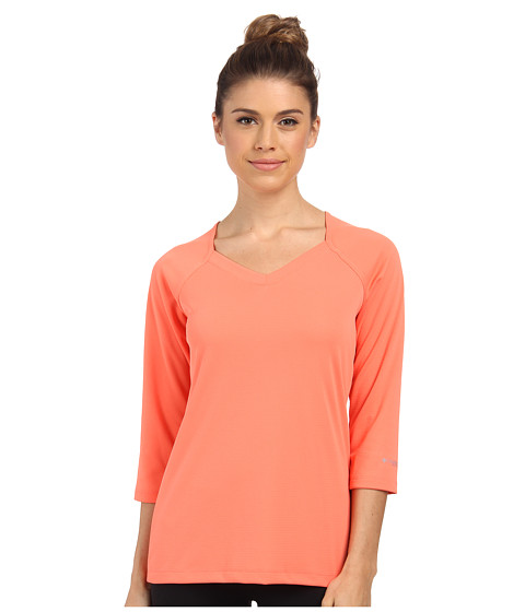 Columbia - Skiff Guide 3/4 Sleeve (Coral Flame) Women