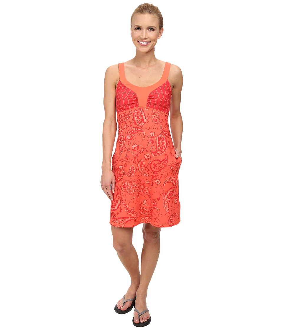 The North Face - Cadence Dress (Emberglow Orange Print) Women's Dress
