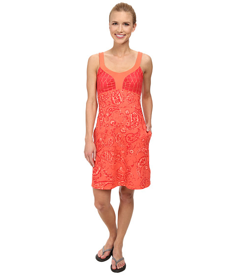 The North Face - Cadence Dress (Emberglow Orange Print) Women