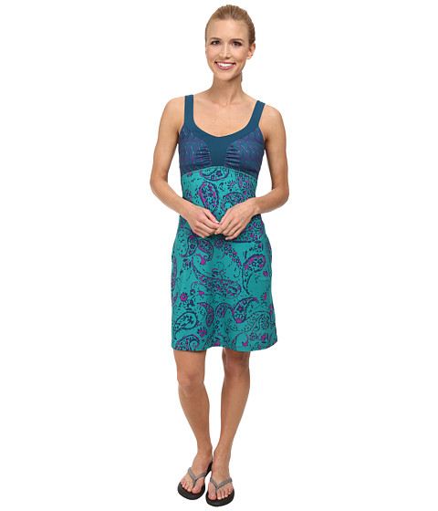 The North Face - Cadence Dress (Teal Blue Print) Women's Dress