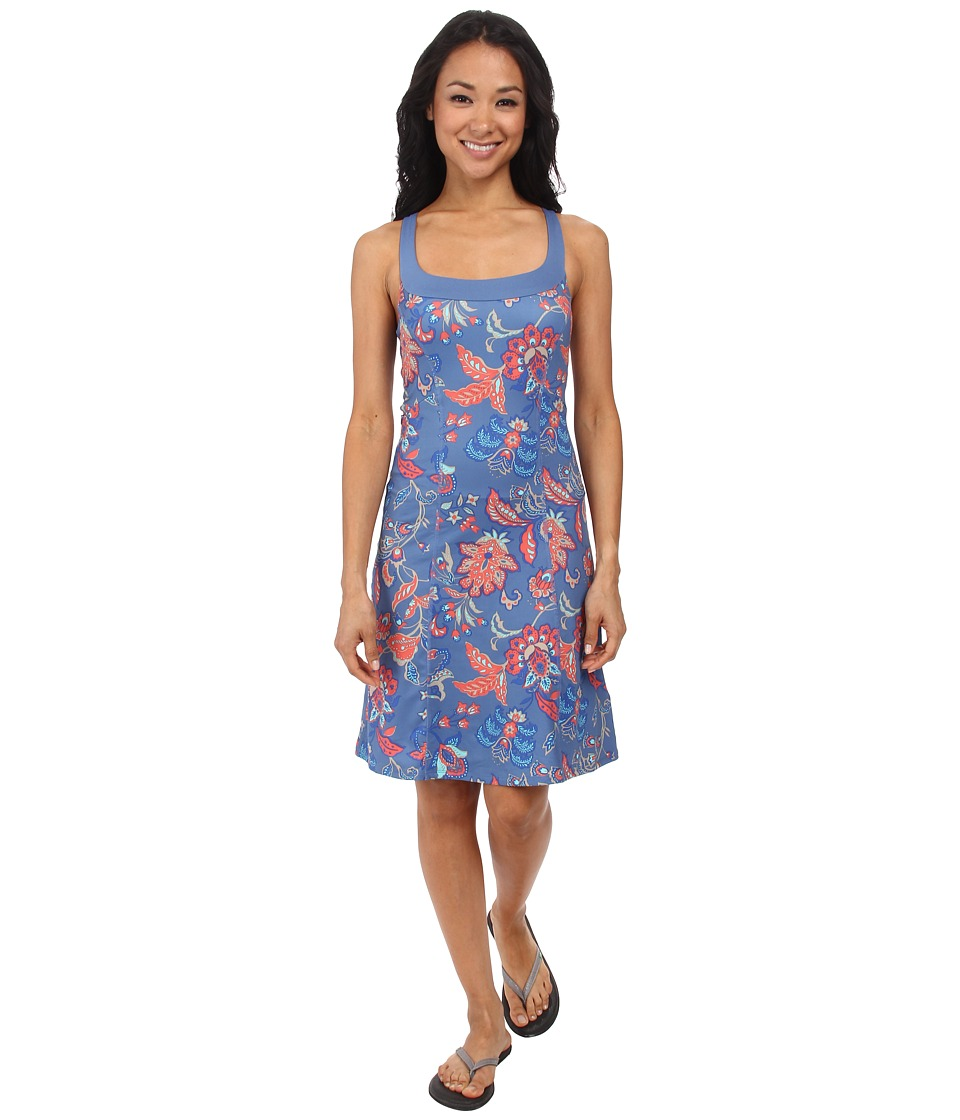 The North Face - Cypress Knit Dress (Vintage Blue Print) Women's Dress