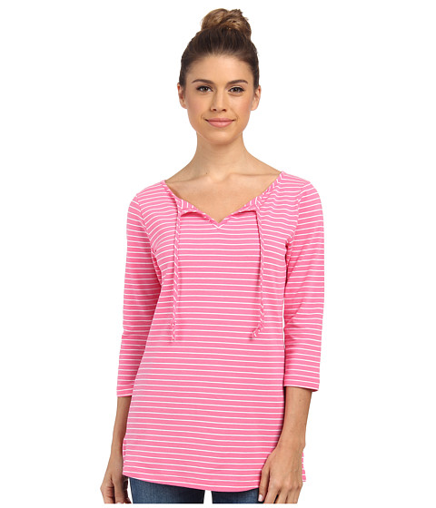 Columbia - Reel Beauty II 3/4 Sleeve Shirt (Tropic Pink Stripe) Women's T Shirt