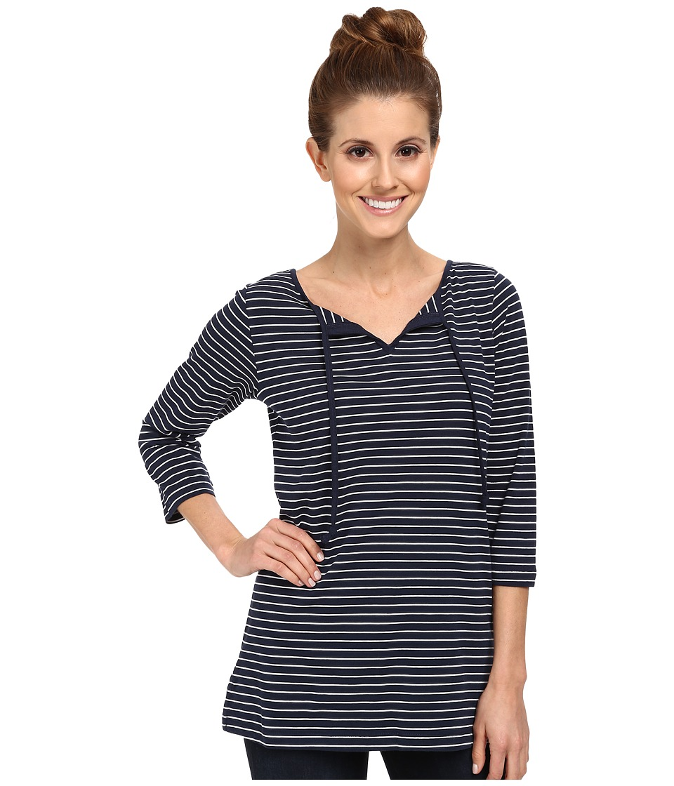 Columbia - Reel Beauty II 3/4 Sleeve Shirt (Collegiate Navy Stripe) Women's T Shirt