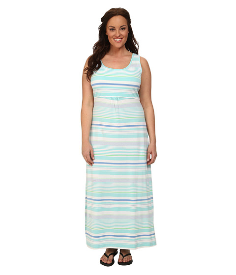 Columbia - Plus Size Reel Beauty II Maxi Dress (Candy Mint Variegated Stripe) Women's Dress