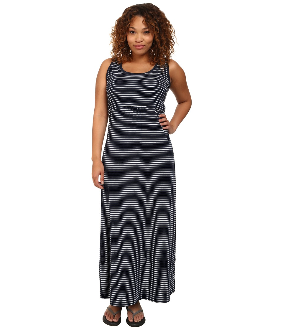 Columbia - Plus Size Reel Beauty II Maxi Dress (Collegiate Navy Stripe) Women's Dress