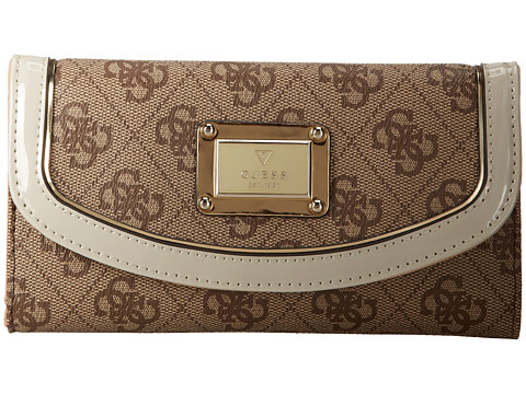GUESS - Reama Slim Clutch (Vanilla) Clutch Handbags