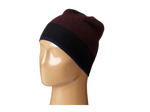 Culture Phit - Color Block Merino Beanie (Wine Marl Combo) Beanies