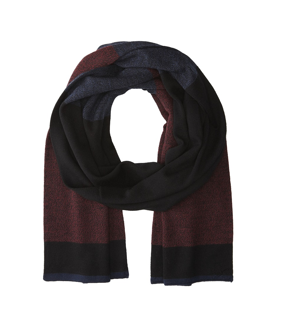 Culture Phit - Color Block Merino Scarf (Wine Marl Combo) Scarves