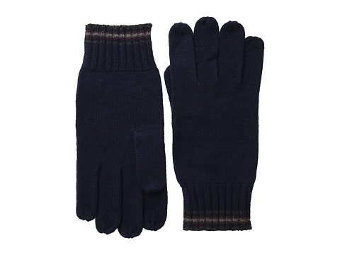 Culture Phit - Mini Stripe Cashmere Gloves (Navy Combo) Dress Gloves