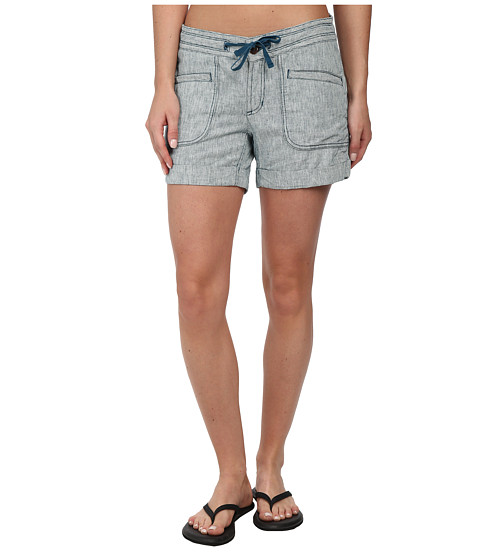 The North Face - Larisen Linen Short (Prussian Blue/Vintage White Stripe) Women