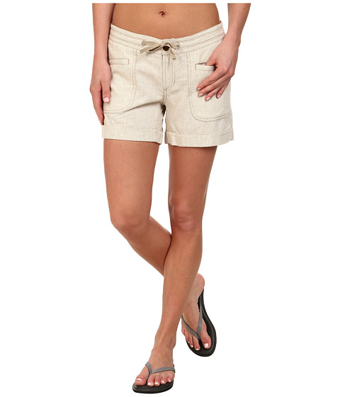 The North Face - Larisen Linen Short (Dune Beige/Vintage White Stripe) Women's Shorts