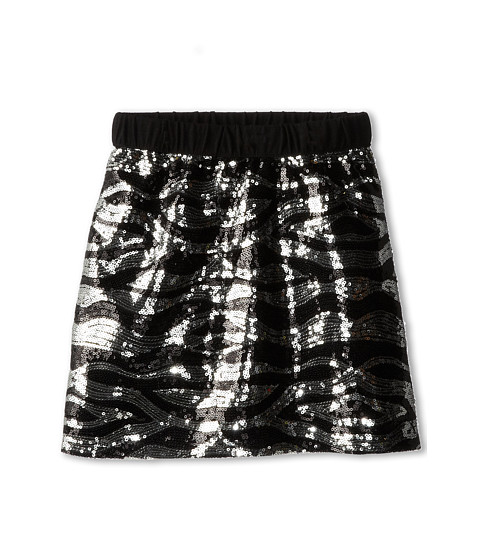 Kate Mack - Wild Princess Skirt Sequin (Big Kids) (Black) Girl's Skirt