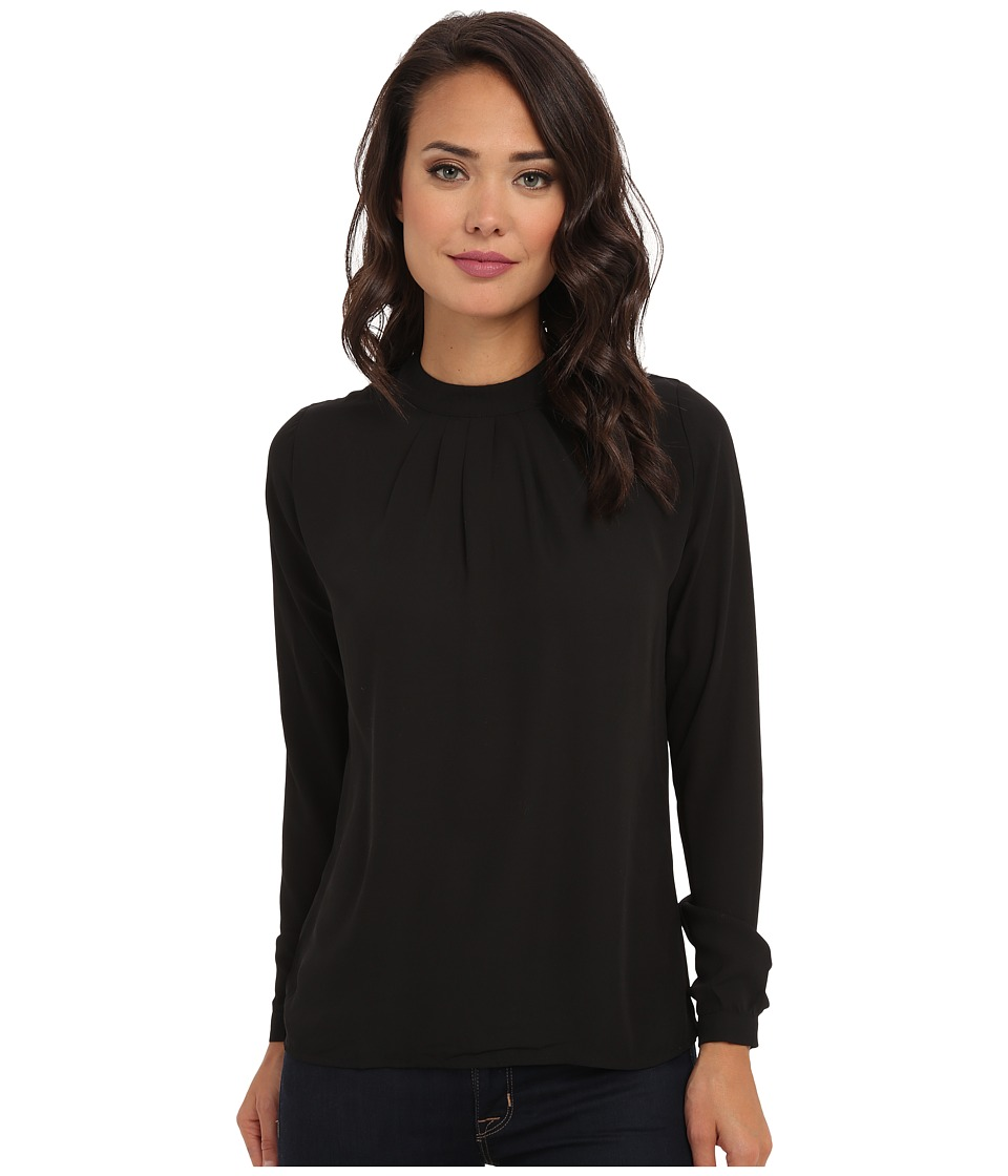 Brigitte Bailey - Aria Pintuck Blouse (Black) Women