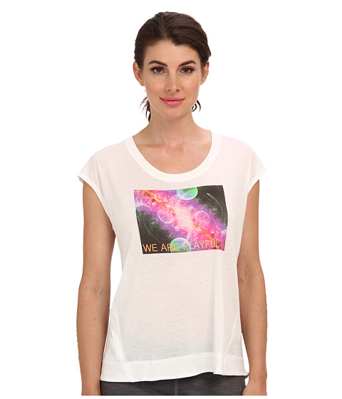 C&C California - We Are Playful Wedge Tee (Bright White) Women's Short Sleeve Pullover