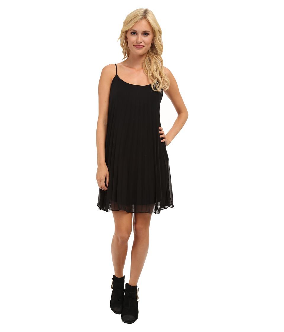 Brigitte Bailey - Bella Sleeveless Accordion Pleat Dress (Black) Women's Dress