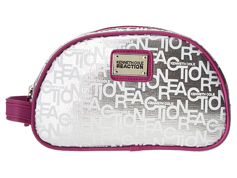 Kenneth Cole Reaction - Double Zip (Silver) Cosmetic Case