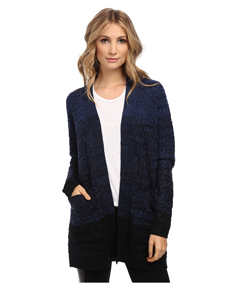 Brigitte Bailey - Twilight Ombre Cardigan (Navy To Black) Women's Sweater