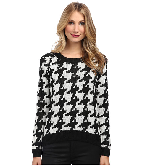 Gabriella Rocha - Lenna Houndstooth Sweater (Black/White) Women