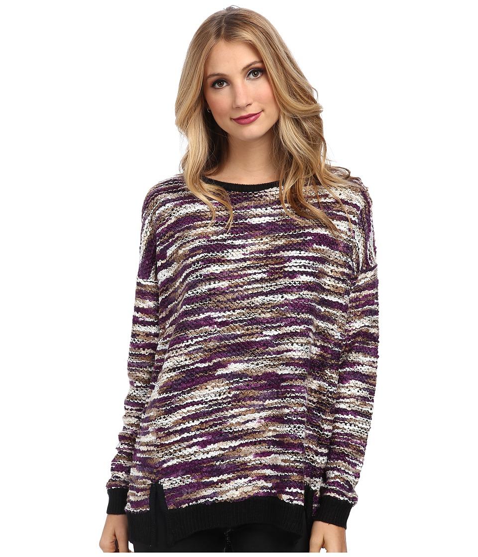 Gabriella Rocha - Heavenly Long Sleeve w/ Zipper Back (Multicolor Combo) Women's Sweater