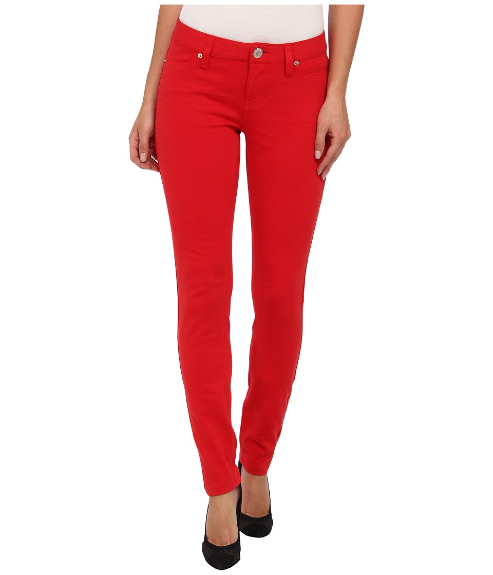 U.S. POLO ASSN. - Hyper Stretch Super Skinny Ponte Knit Pant (Tomato Check) Women's Casual Pants