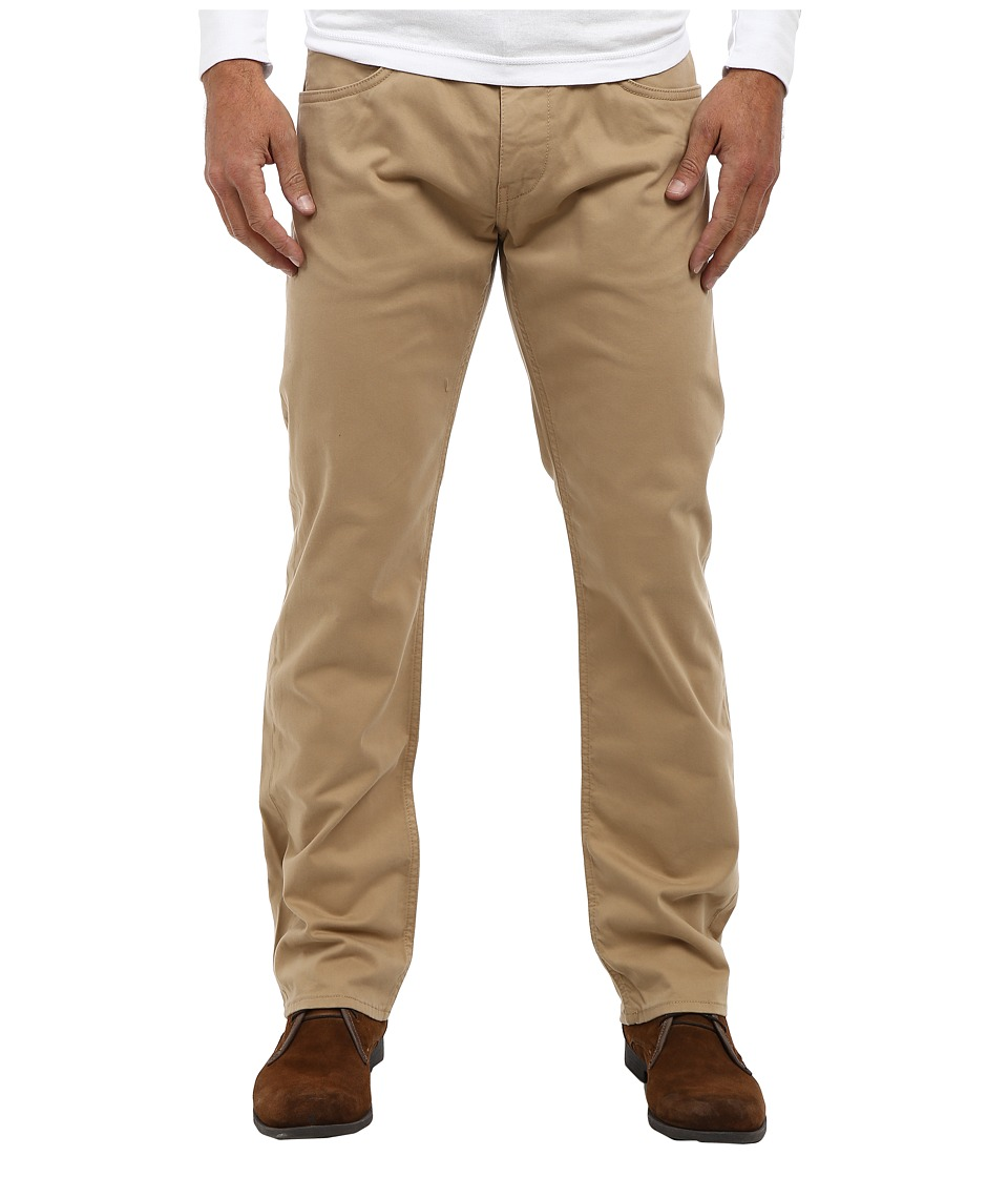 Mavi Jeans - Zach Regular Rise Straight Leg in Tan Twill (Tan Twill) Men's Jeans