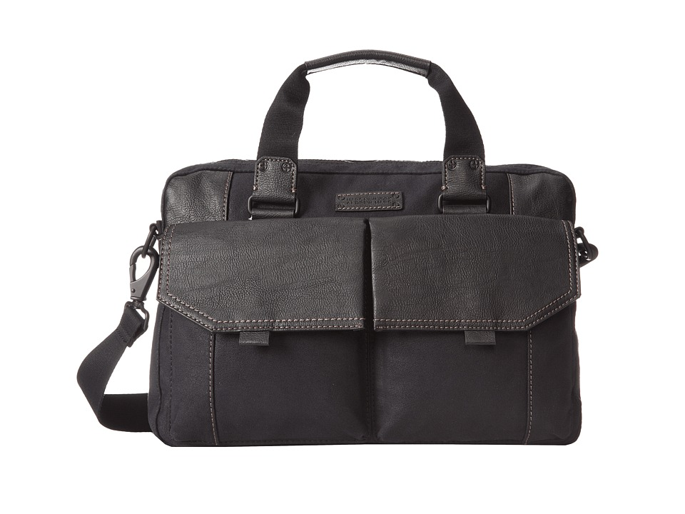 Marc New York by Andrew Marc - Lindburgh Top Zip Brief (Black) Briefcase Bags