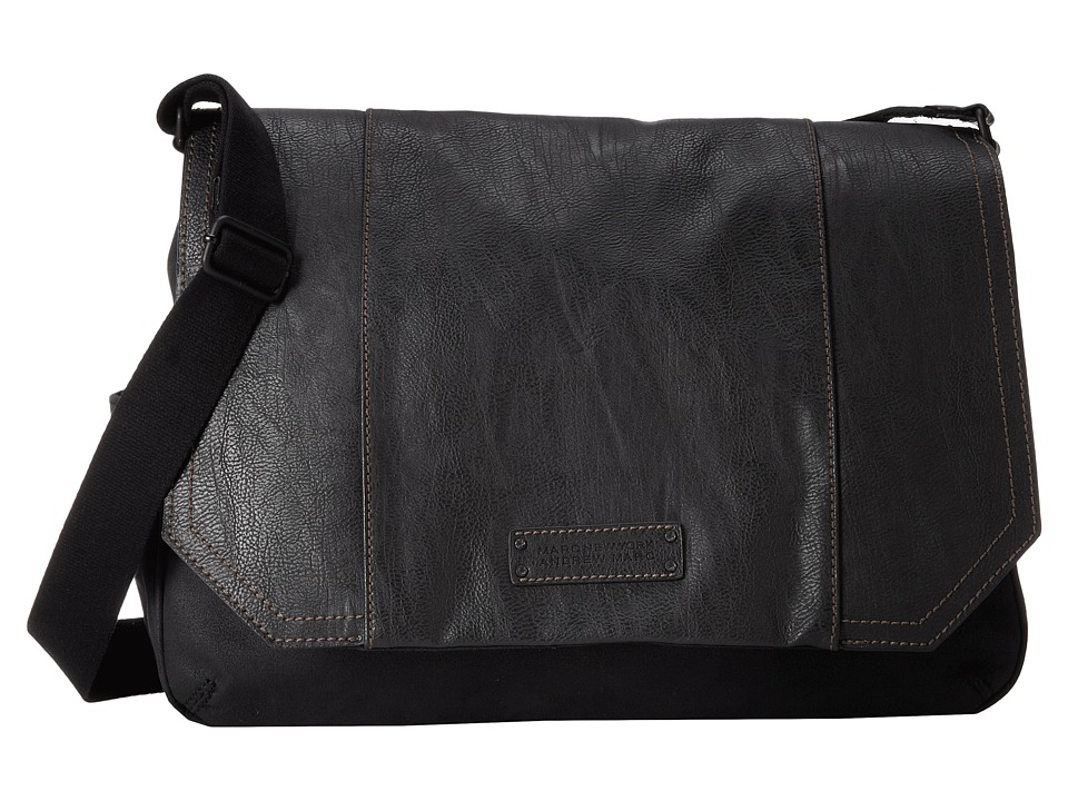 Marc New York by Andrew Marc - Lindburgh Messenger Bag (Black) Messenger Bags