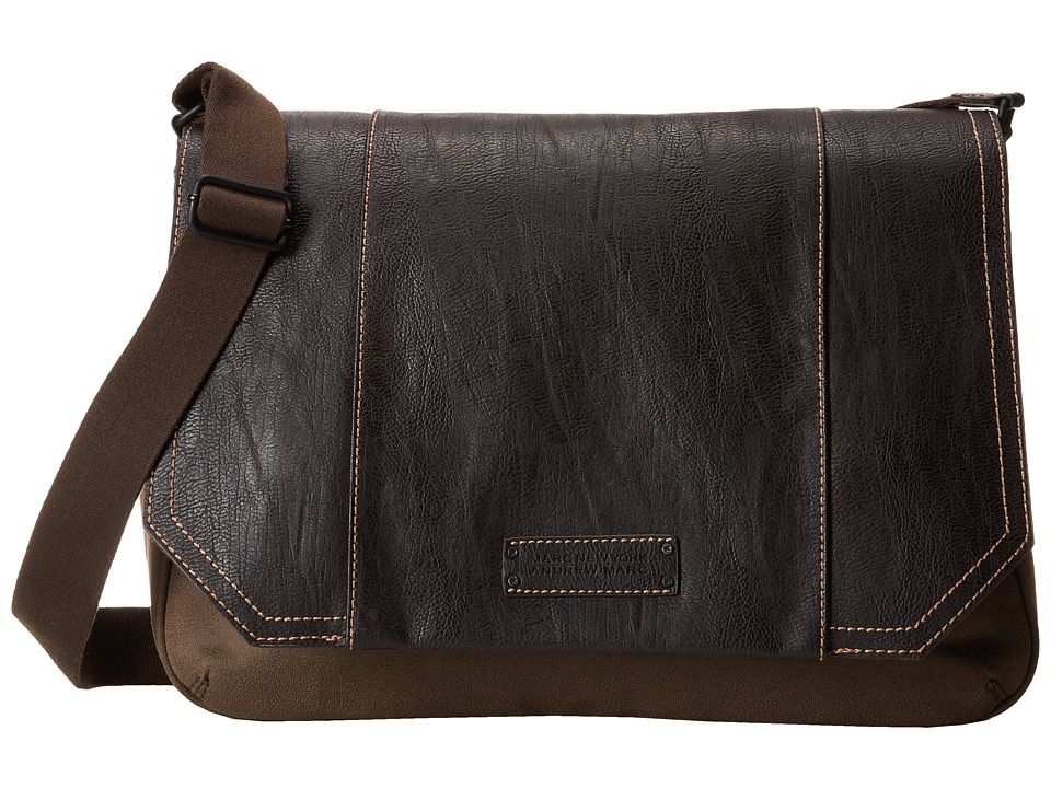 Marc New York by Andrew Marc - Lindburgh Messenger Bag (Brown) Messenger Bags