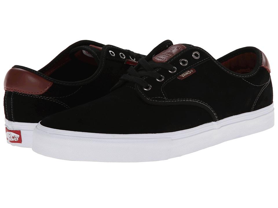 Vans - Chima Pro (Black/Mahogany) Men's Skate Shoes