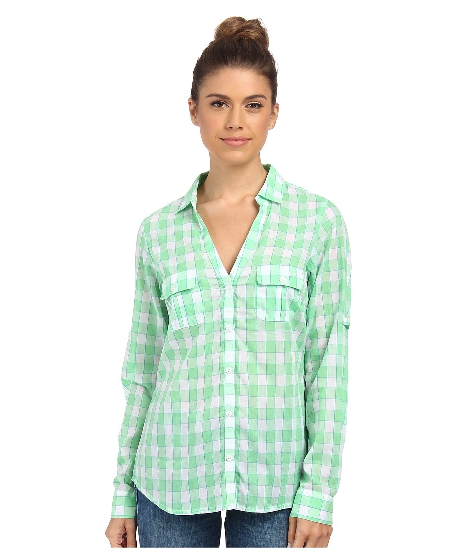 Columbia - Sun Drifter L/S Shirt (Chameleon Green Check) Women