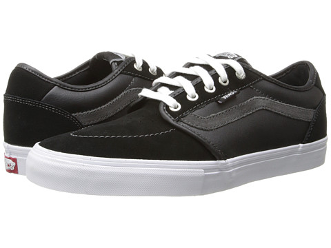 Vans - Lindero 2 (Black/White/Silver) Men's Skate Shoes