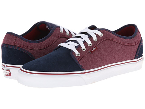Vans - Chukka Low ((Oxford) Navy/Port) Men's Skate Shoes