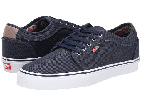 Vans - Chukka Low ((Totem) Navy/White) Men's Skate Shoes