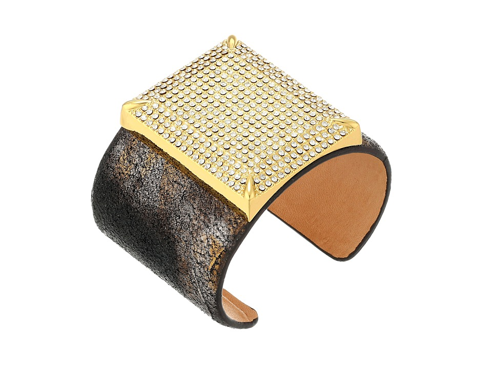 Vince Camuto - C602341 (Gold/Crystal/Suede Multi Metallic Leather) Bracelet
