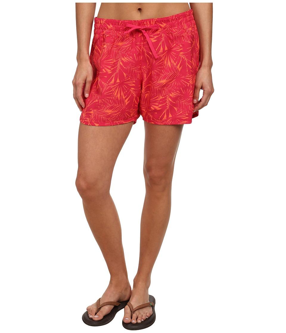 Columbia - Cool Coast Short (Bright Rose Palms Print) Women