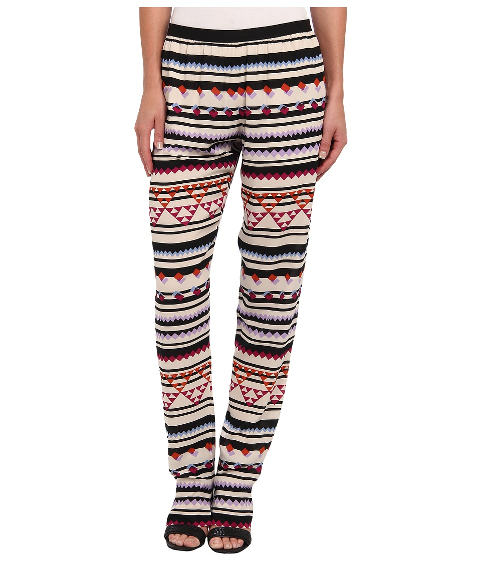 BCBGMAXAZRIA - Michael Printed Pant (Bright Raspberry Combo) Women's Casual Pants