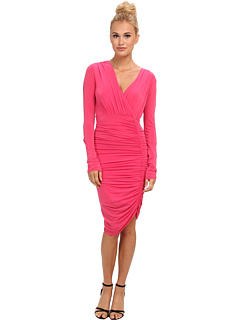 SALE! $105.99 - Save $132 on BCBGMAXAZRIA Dalton Ruched Jersey Dress (Begonia) Apparel - 55.47% OFF $238.00