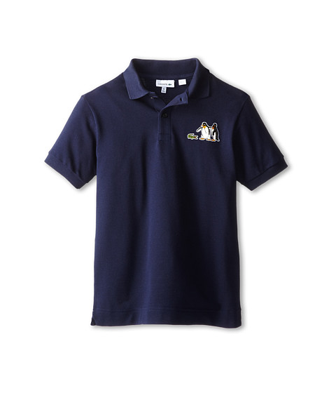 Lacoste Kids - Noel Embroidered Penguin Polo (Toddler/Little Kids/Big Kids) (Navy Blue) Boy's Short Sleeve Pullover