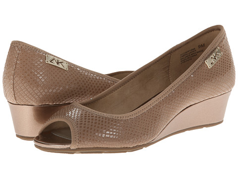 Anne Klein - AK Sport - Camrynne (Beige/Gold) Women's Wedge Shoes
