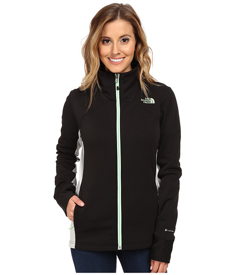 The North Face - Momentum Pro Jacket (TNF Black/High Rise Grey) Women