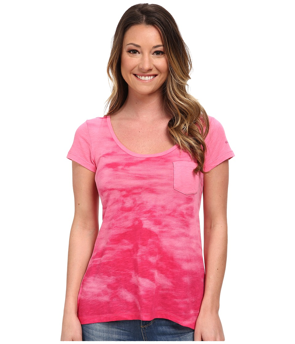 Columbia - Waves Pocket Tee (Tropic Pink) Women's Short Sleeve Pullover