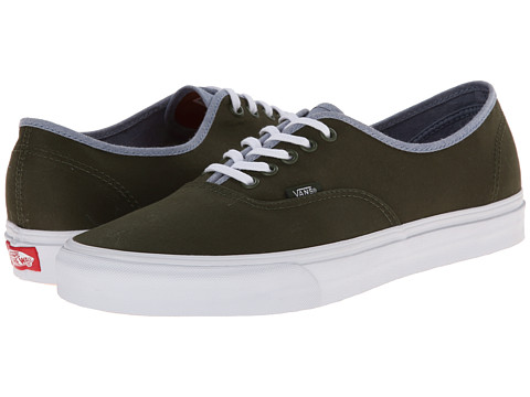 Vans - Authentic ((T&C) Rifle Green/Captain's Blue) Skate Shoes
