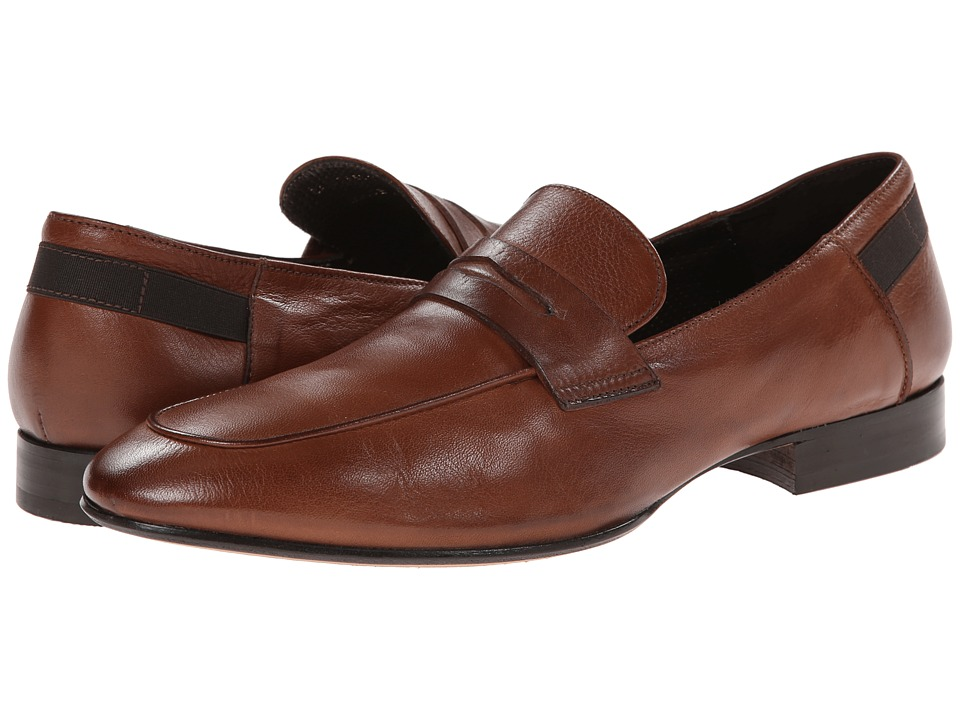 Kenneth Cole Black Label - Cant' Resist (Cognac) Men's Slip-on Dress Shoes