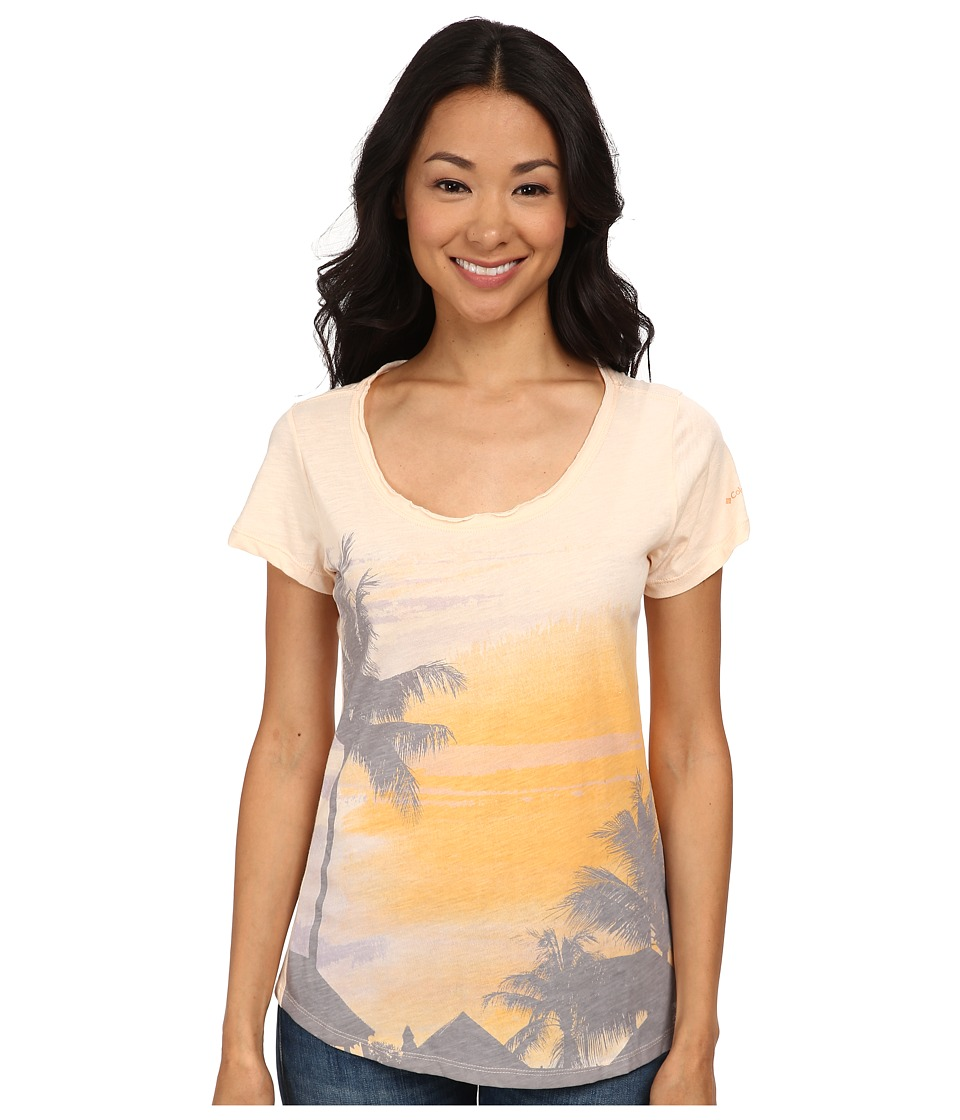 Columbia - Paradise Scoop Neck Tee (White Peach/Vacation) Women's T Shirt