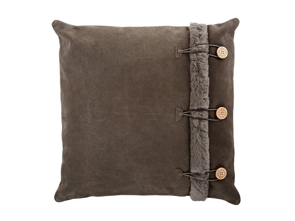 UGG - Bailey Button Pillow (Grey) Sheets Bedding