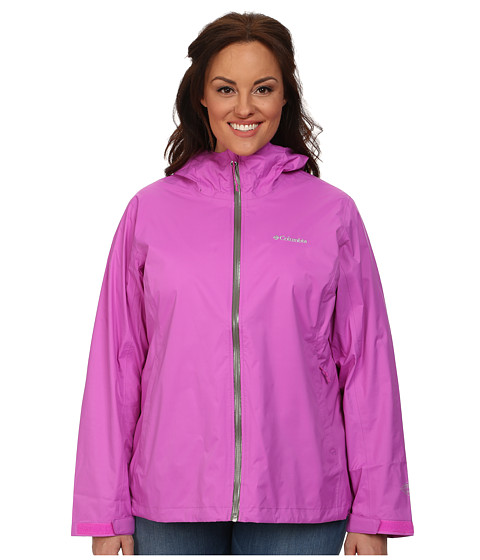 Columbia - Plus Size EvaPOURation Jacket (Foxglove) Women's Coat