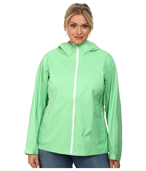 Columbia - Plus Size EvaPOURation Jacket (Chameleon Green) Women