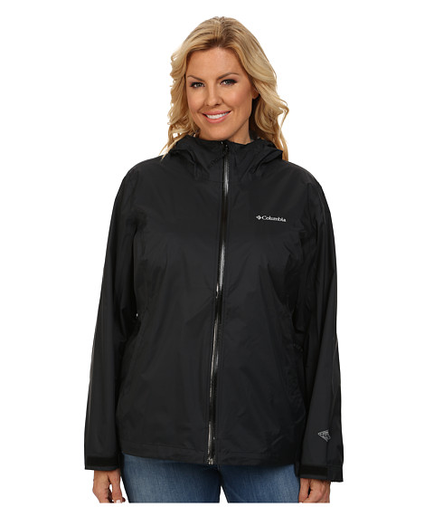 Columbia - Plus Size EvaPOURation Jacket (Black) Women's Coat