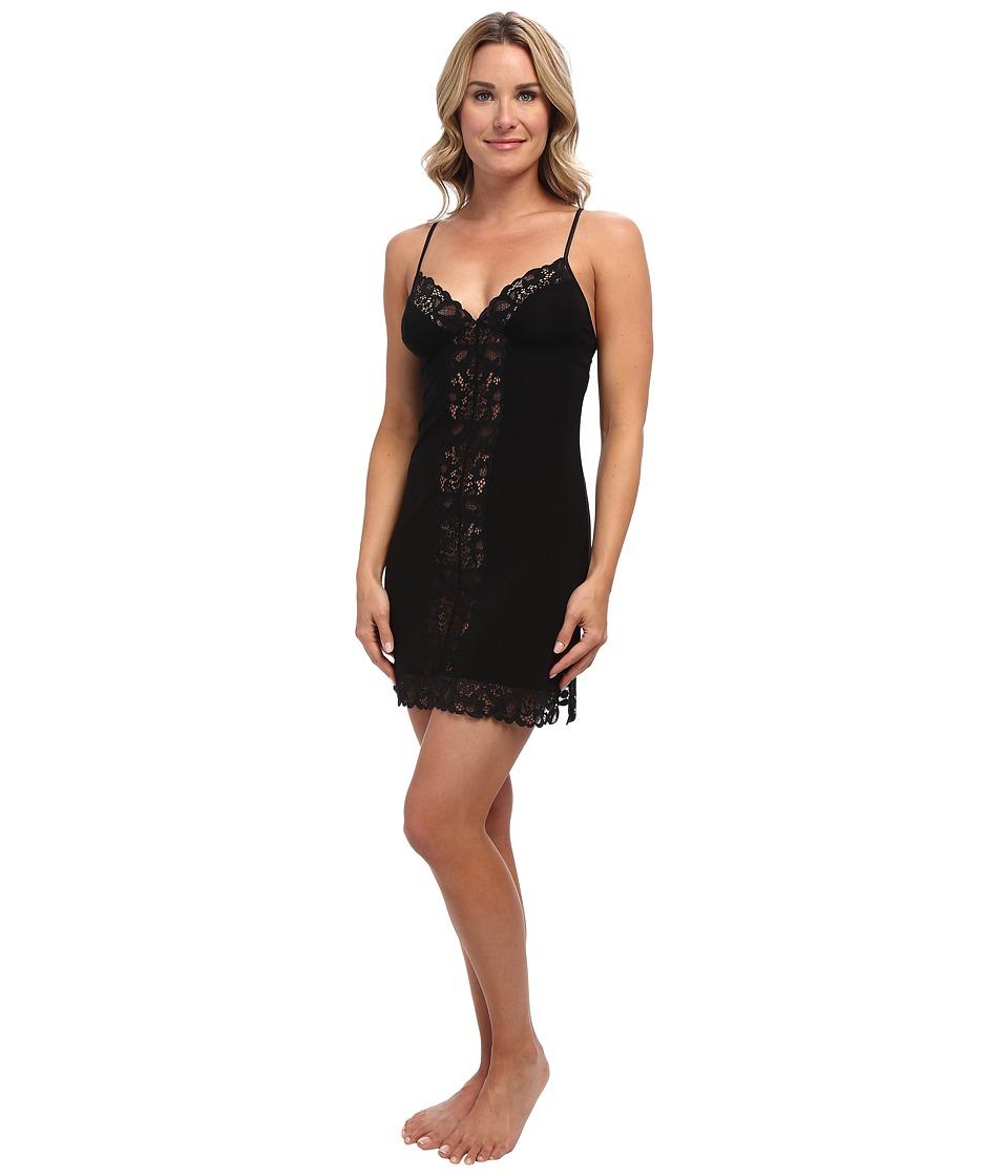 Josie - Addictive Slinky Jersey Chemise (Black) Women's Pajama
