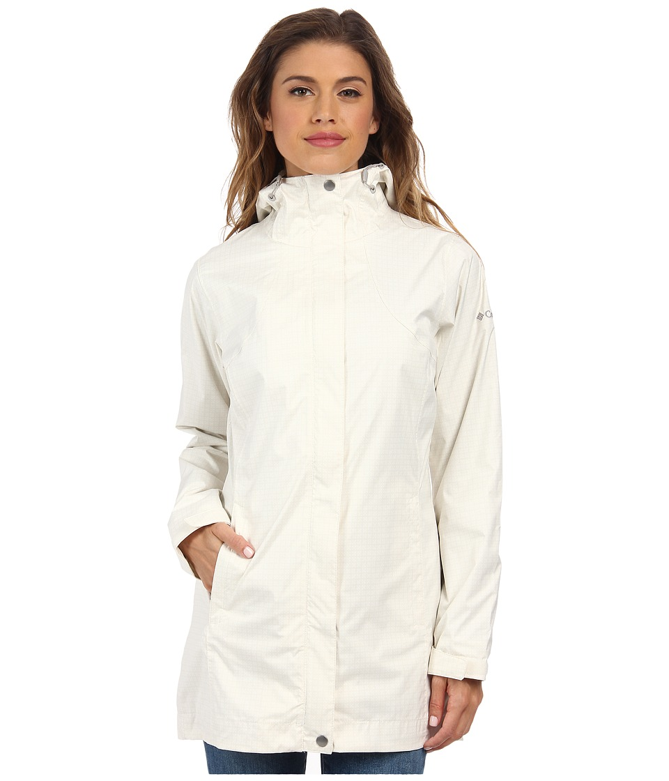 Columbia - Splash A Little Rain Jacket (Sea Salt/Flint Grey Print) Women's Coat
